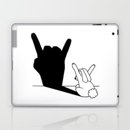 Rabbit Rock and Roll Hand Shadow Laptop & iPad Skin