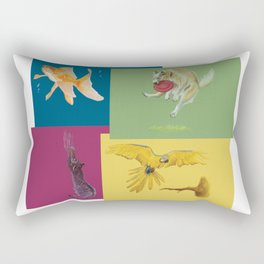 Animal Tiles Overlap Rectangular Pillow