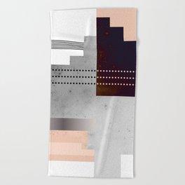 Speckled Polygon Dot Stripe Beach Towel