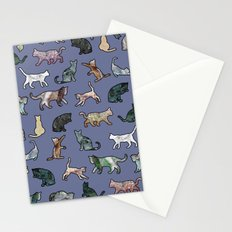Cats shaped Marble - Violet Blue Stationery Cards