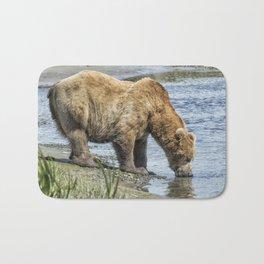 Thirsty Big Brown Male Bear Bath Mat