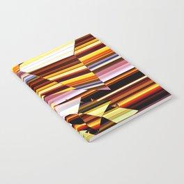 Fractured Spiral on Stripes Notebook