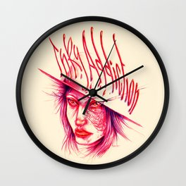 Inky Addiction Wall Clock