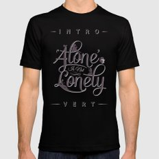 'Alone' Is Not 'Lonely' Mens Fitted Tee MEDIUM Black