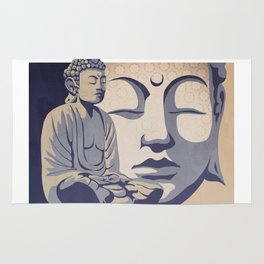Zen Buddha: Awakened and Enlightened One Rug