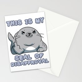 Ocean Snorkeling Life Fish Rejection T-shirt Design Discontent Seal Of Disapproval Fuck You Sea lion Stationery Cards