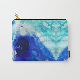 Modern Abstract Art - Blue Marble by Sharon Cummings Carry-All Pouch