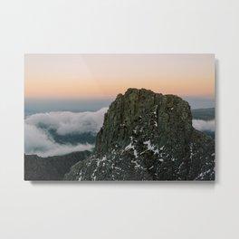 Sunset at Serra da Estrela, Portugal Metal Print