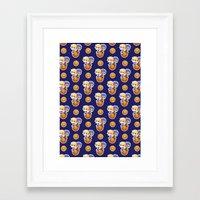 kuroko Framed Art Prints featuring BASKETBALL BOYFRIENDS (BLUE) by Kura
