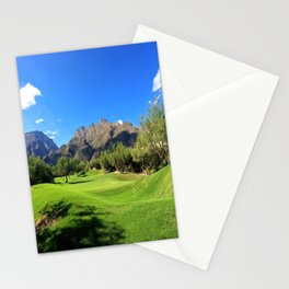 Mountains and Golf Stationery Cards