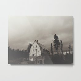 Semi-inviting Lodge Metal Print