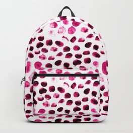 Fashion dot painting pattern illustration Backpack