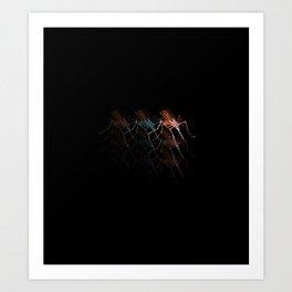 Mosquitoes reflection / black version / Art Print