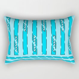 Abstract blue 181 Rectangular Pillow