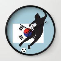 korea Wall Clocks featuring Korea Republic - WWC by Alrkeaton