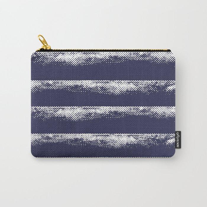 Irregular Stripes Dark Blue Carry-All Pouch