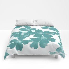 Floral Teal Comforters