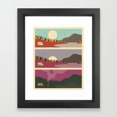 Campfire Framed Art Print