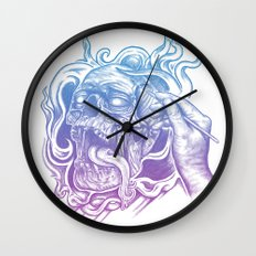 Painted Skull Wall Clock