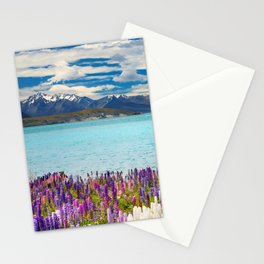 Landscape with Lupin Flowers Stationery Cards