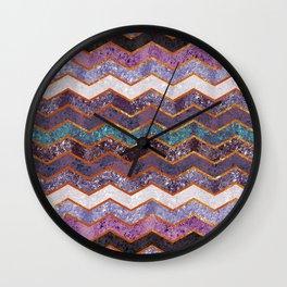 Glitter Waves Wall Clock