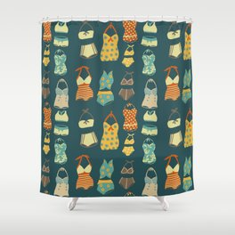 Fun Retro Bathing Suits Shower Curtain