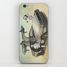 Lost, searching for the DeathStarr _ 2 Stormtrooopers in a DeLorean  iPhone Skin