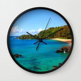 Waimea Bay ... By LadyShalene Wall Clock