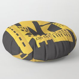Golden city art deco Floor Pillow