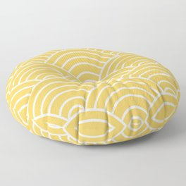 Yellow Japanese Seigaiha Wave Floor Pillow