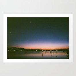 Salton Sea Sunset (Film) Art Print