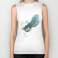 wind Biker Tanks featuring Wind by Simona Borstnar