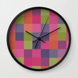 MADRAS CHECKS Wall Clock