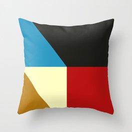 Mid Century Geometric F Throw Pillow