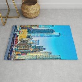 New York, Manhattan Panorama Rug