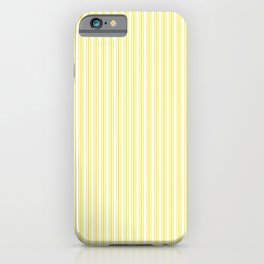 Classic Small Highlighter Yellow Pastel Highlighter French Mattress Ticking Double Stripes iPhone Case