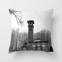 poland Throw Pillows featuring Poland Springs Museum by Catherine1970
