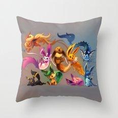 Chibi-lutions Throw Pillow