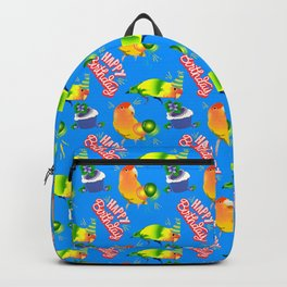 Lovebird Parrot Birthday Birds Backpack