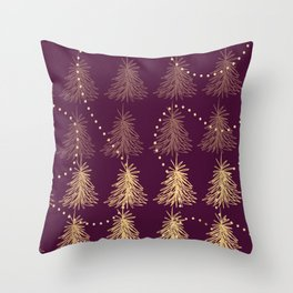 Fading Trees red Throw Pillow