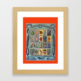 Mexican Bingo Loteria Framed Art Print