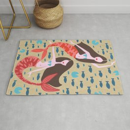 Mermaids on Kraft Rug