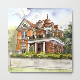 Stately Manor House Metal Print