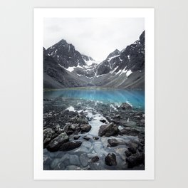 The turquoise lake Art Print