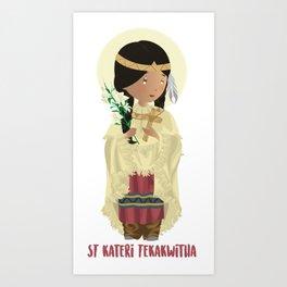 St Kateri Tekakwitha Art Print