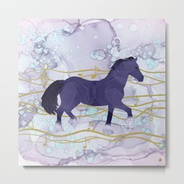 The Musical Horse Trotting Through the Rhythms of Nature Metal Print