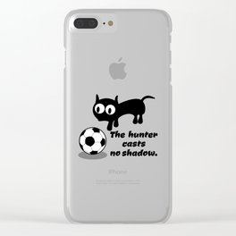 Cat Football Clear iPhone Case