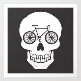 Bikehead Art Print