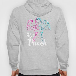Pink & Blue Vector Style Hot Punch-Boxing Martial Arts Apparel Best Gift for Girls & Women Hoody