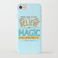 roald dahl iPhone & iPod Cases featuring Believe in Magic by Ella Lama